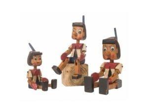 By Thing Håndskåret Pinocchio