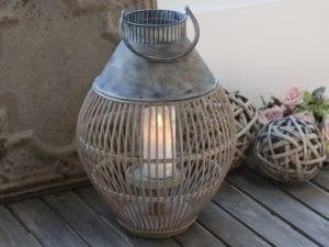 Chic Antique, Fransk flet Lanterne med zink top
