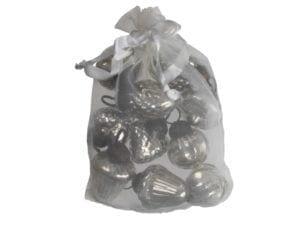Ib Laursen10 julekugler mini sølv