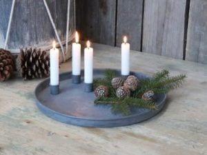 Adventsbakke med magnet lysholdere