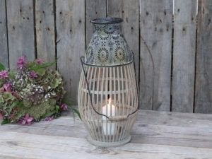 Chic Antique Fransk lanterne bambus