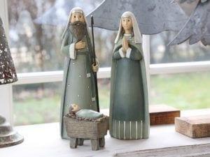 Maria & Josef med Jesus sæt af 3