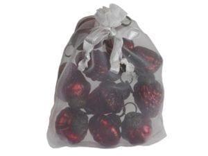 Ib Laursen 10 julekugler mini rød