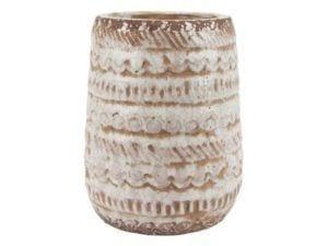 Vase mønstret creme