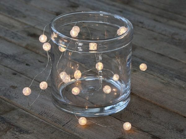 Lyskæde med krystaller LED