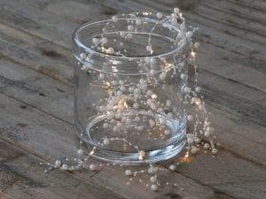 Lyskæde med perler LED