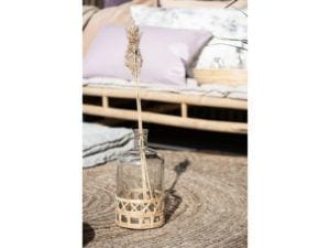 Glasflaske m. bambus