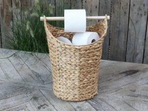 Kurv m. toiletpapirholder