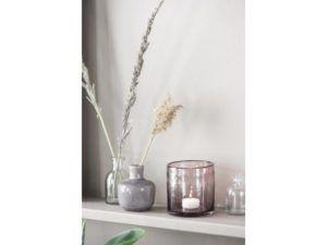 Vase krakeleret glasur lilla