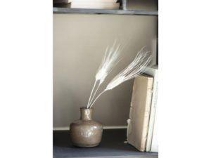 Vase krakeleret glasur brun