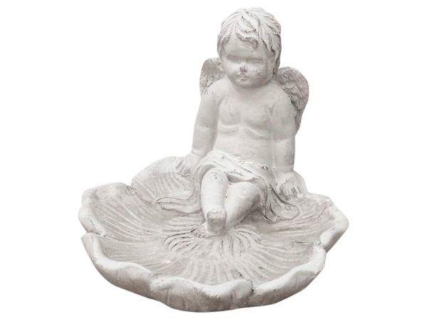 Chic Antique Fuglebad med engel