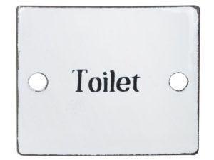 Emalje skilt Toilet