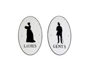 Ladies & Gents skilt
