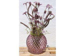 Anna Von Lipa krystal vase Purple