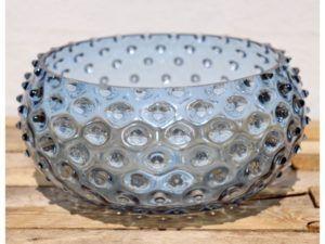Anna Von Lipa krystal skål Blue Smoke