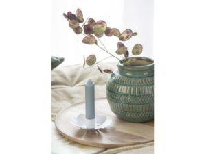 Vase m/mønster grøn hals
