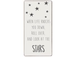 Magnet When life knocks you down,roll over, and look at the stars