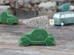 Bil m. juletræ velour