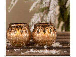 Ivy fyrfadsglas creme
