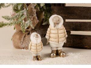 Pingviner i vintertøj sæt