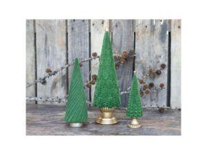 Juletræ på fod velour 35 cm