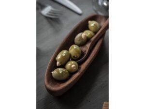 Olivenske m/huller olieret akacietræ