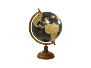 Globus på træfod 34 cm black
