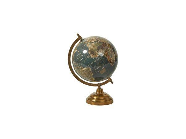 Globus på fod 33 cm shiny blue