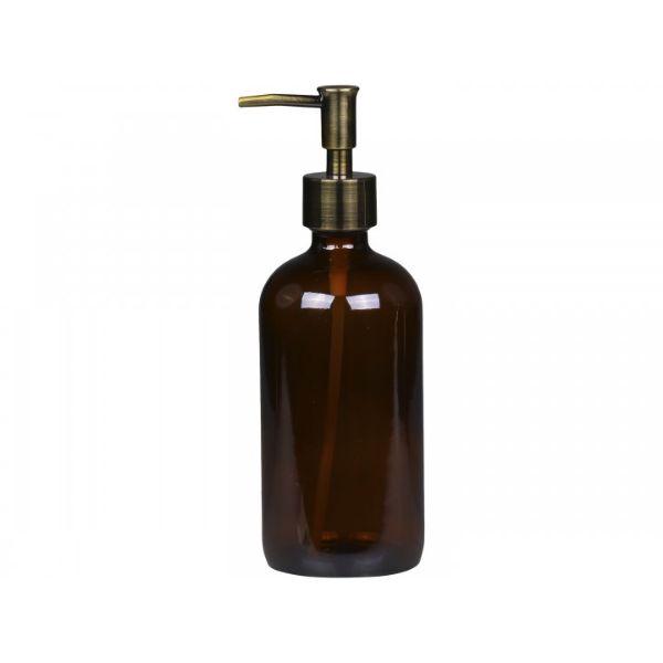 Flaske m. pumpe 480 ml. mocca