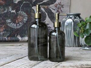 Flaske m. pumpe 1000 ml. kul
