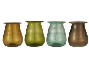 Mundblæst UNIKA Vase i genbrugsglas