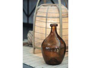 Mundblæst glasballon brun