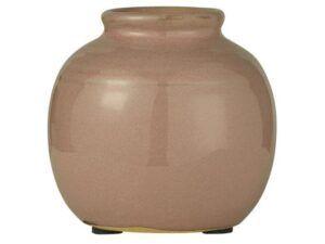Vase mini m/riller brun