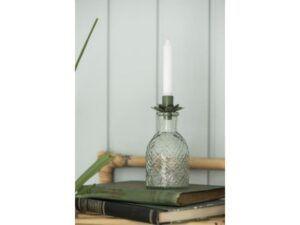 Lysindsats t/kertelys blomst olivengrøn
