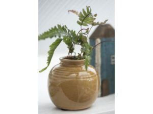 Vase mini m/riller sennep