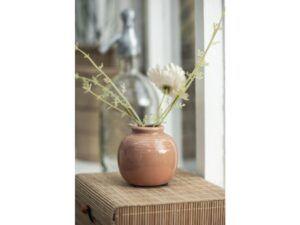 Vase mini m/riller orange