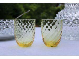 Anna Von Lipa Harlequin krystalglas Citron