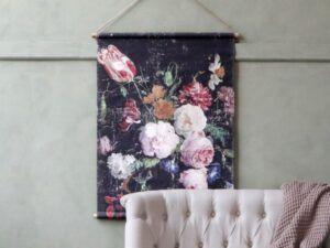 Lærred til ophæng med fransk blomsterprint