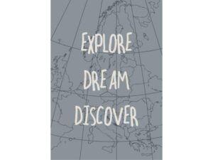 Metalskilt Explore Dream Discover