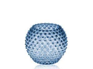 Anna Von Lipa krystal vase Blue Smoke