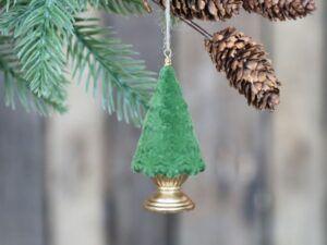 Chic Antique juletræ på fod velour