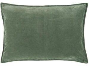 Pudebetræk velour dusty chalk green