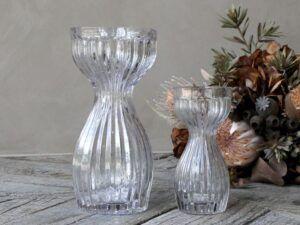 Amaryllis Vase med riller 18 cm
