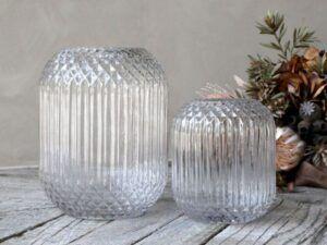 Vase med ternet mønster 18 cm