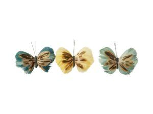 Sommerfugl af fjer med clips