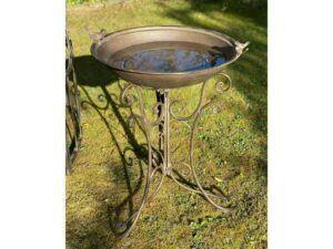 Fugelbad i jern antik brun