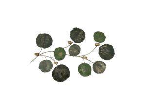 Leaf vægdekoration Antik grøn