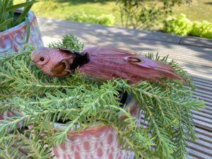 Deko fugl pink