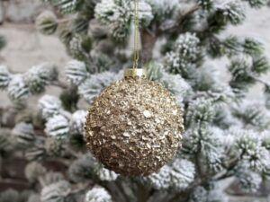 Chic Antique Julekugle guld