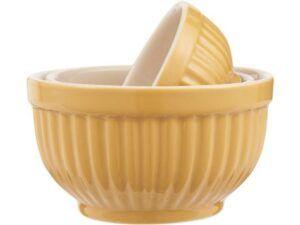 Mynte bowlesæt 3 mini Mustard